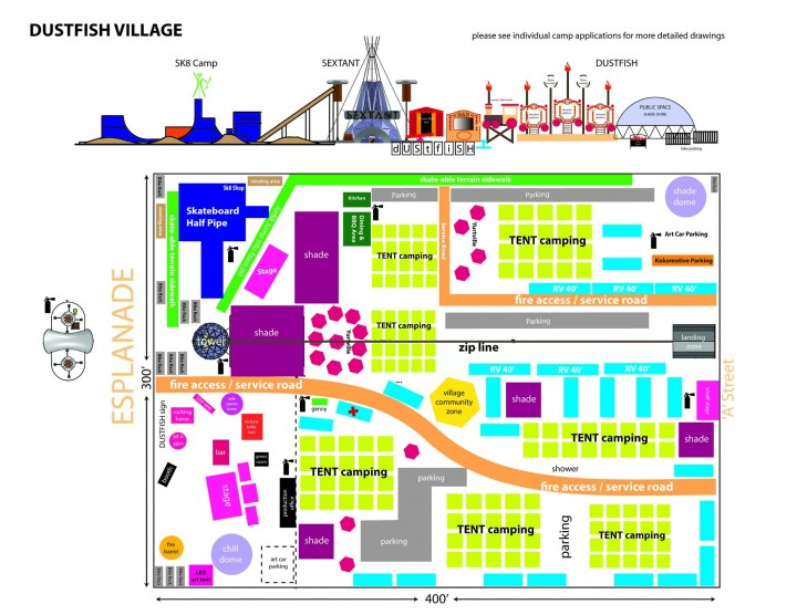 Map of Dustfish Village 2015